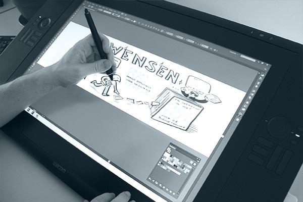 Live tekenaar: Opschonen