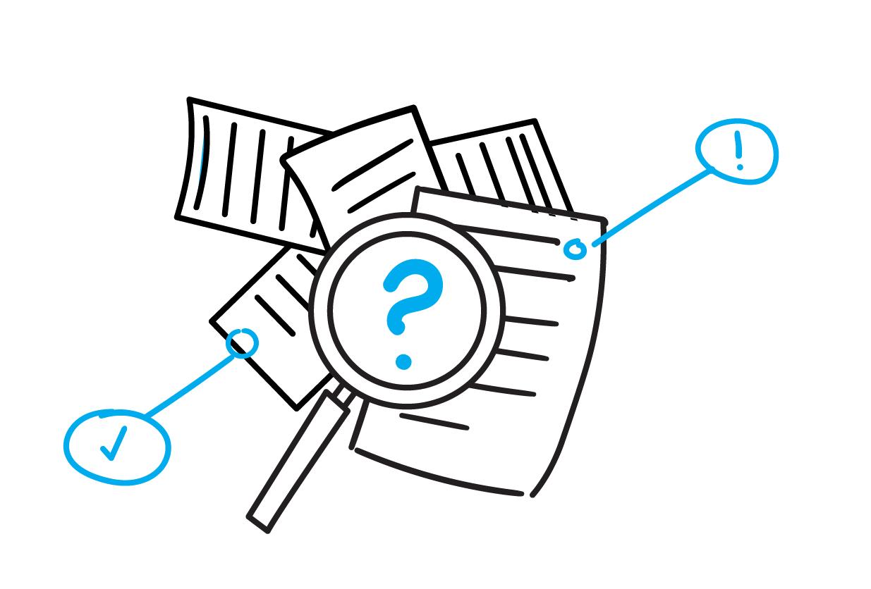 Visueel contract: Informatie analyse